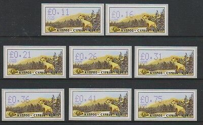 Cyprus - 1999 Vending Machine Labels (Goats) - Self Adhesive - Code 005 - MNH