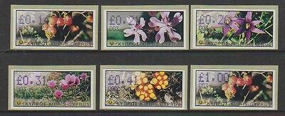 Cyprus - 2002 Vending Machine Labels (Flowers) - Self Adhesive - Code 003 - MNH