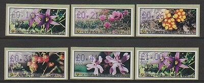 Cyprus - 2002 Vending Machine Labels (Flowers) - Self Adhesive - Code 007 - MNH