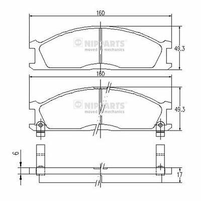 To Clear - New Oe Quality Nipparts - Front - Brake Pads Set - J3601037