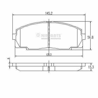 To Clear - New Oe Quality Nipparts - Front - Brake Pads Set - J3602076