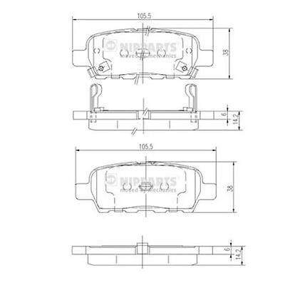To Clear - New Oe Quality Nipparts - Rear - Brake Pads Set - J3611044