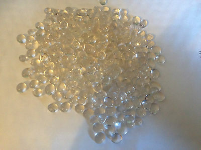 Small Round Clear Glass Nugget Pebbles Beads Stones Button Pick Qty