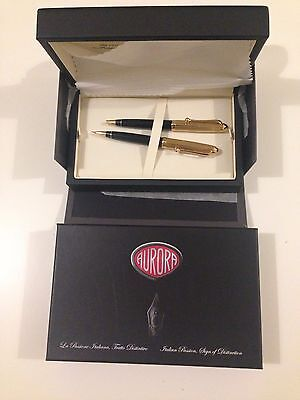 Aurora 88 Guilloche Set - Ballpoint + M. Pencil Gold Plated * New *