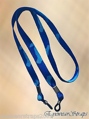 NEW Blue Camouflage Sunglasses Glasses Spectacle Safety Lanyard Retaining Strap
