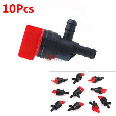 "10Pcs 1/4"" 90 Degree Gas Fuel Cut Off Shut Off Valve Motorcycle BRIGGS STRATTON"