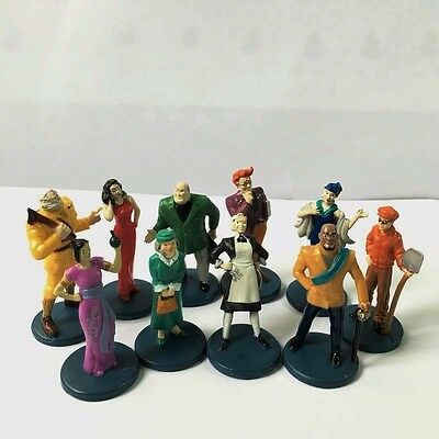 Clue Game 10x Suspects Pieces Tokens Movers Characters Action Figures Toys M779
