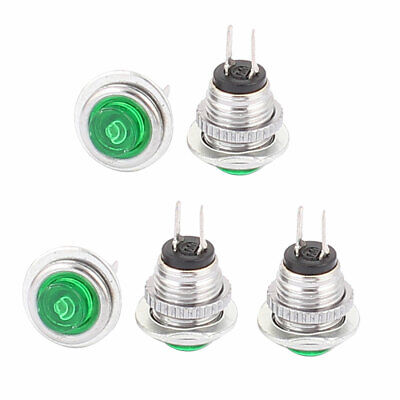 5 Pcs SPST NO Momentary Micro Push Button Switch Green for Electric Torch
