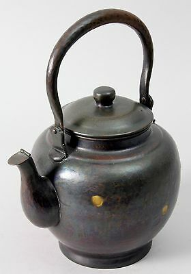 Japanese signed Copper  Kettle  / Tea Ceremony D95 銅水注 煎茶道具