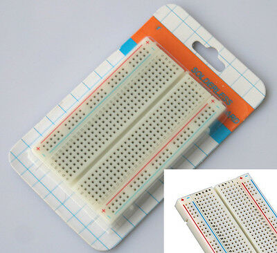 400 point Solderless Prototyping Breadboard - Transparent - Perfect for Arduino
