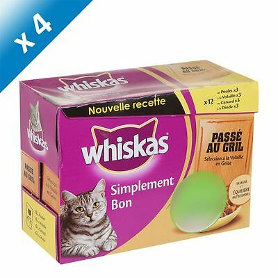 WHISKAS Saveur Gril Volaille 12x85g (x4)