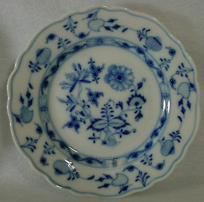 MEISSEN Germany china BLUE ONION pattern BREAD PLATE 6-3/4""