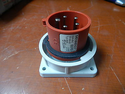 NEW Mennekes 829 CEE Panel Mount AC Inlet 5 Wire