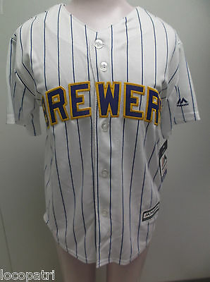 Majestic MLB Milwaukee Brewers Carlos Gomez Cool Base Youth Jersey NWT M
