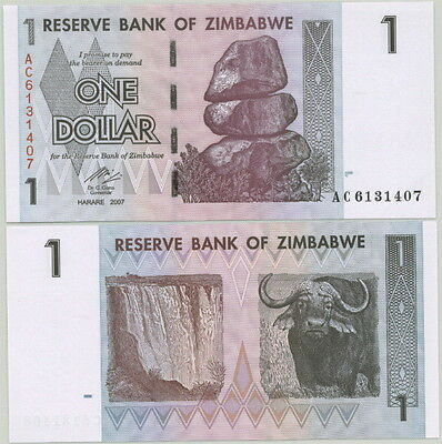Zimbabwe - Genuine $1 Bill P-65 Unc - First Note In Ultimate Inflation Series!