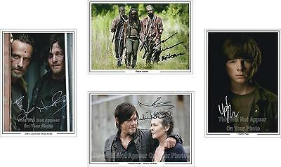The Walking Dead Collection Signed Photos Pre-Prints Norman Reedus, Rick A4 PP