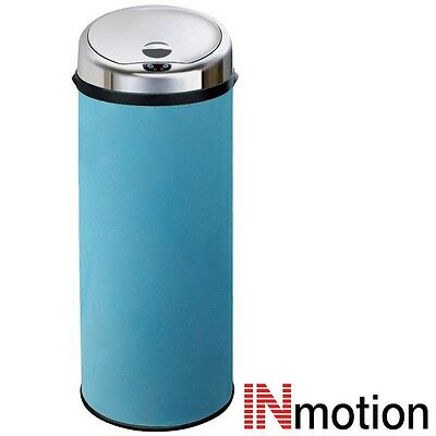 Inmotion 50L Blue Stainless Steel Auto Automatic Sensor Kitchen Waste Dust Bin