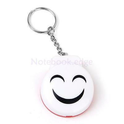 Mini Personal 120dB Security Siren Alarm with Keychain - White