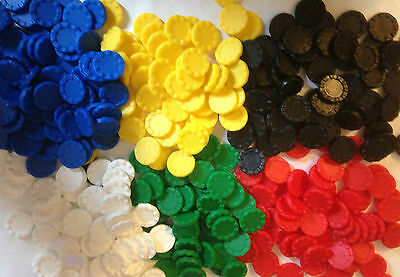 15mm Opaque Stacking Counters Plastic Board Game Teaching Numeracy 6 colors