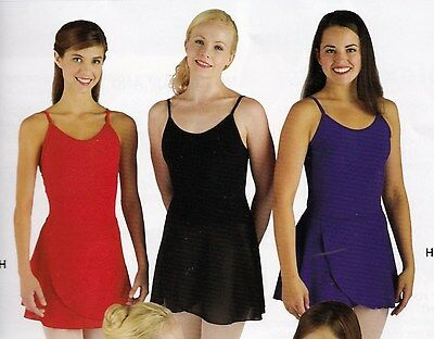NWT Classic Dance Ballet Wrap Skirt Crepe 11 Colors Choices Adult Child
