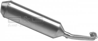 EXHAUST LEOVINCE 4 Road PIAGGIO BEVERLY 250 AB bj. 2004 Stainless Steel Pipe