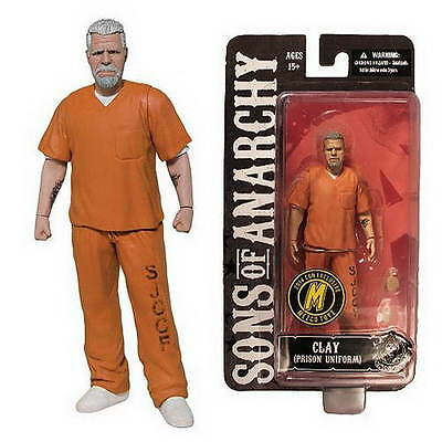 SONS OF ANARCHY CLAY MORROW ORANGE PRISON OUTFIT NYCC 2014 15cm Figur NEU+OVP
