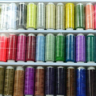 1Set 39Color 200yds POLYSTER THREADS SEWING MACHINE COTTON ASSORTED DIY COLOURS