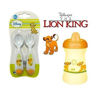 Set of Cup & Cutlery Disney the Lion King Baby Feeding Drinking Toddler Training