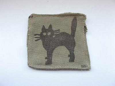 17th indian division  black cat cloth formation sign military unit patch