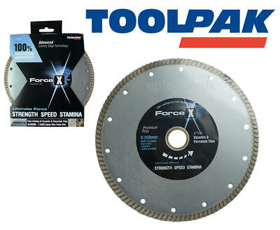 Force-X 200mm 20.3cm Diamant Super Fin Turbo Jantes Porcelaine Carrelage Lame /