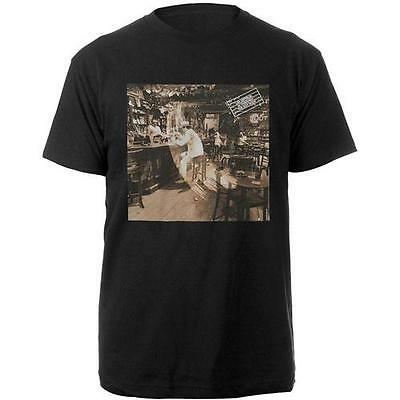 Led Zeppelin - Bar Photo Inner Mens Short Sleeve Black T-Shirt - New & Official