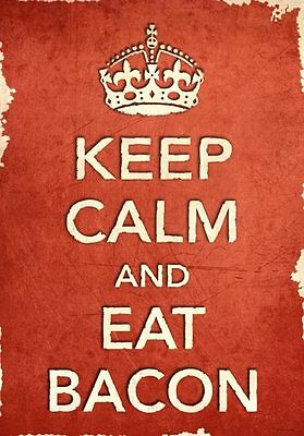 KC41 Framed Vintage Style Union Jack Keep Calm Eat Pizza Funny Poster A3//A4