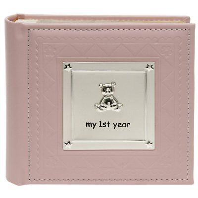 BABY Girl Pink Photo Album My 1st First Year NEW 13872