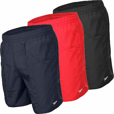 """Speedo Mens Solid Quick Drying Leisure 16"""" Water Shorts S M L XL XXL"""