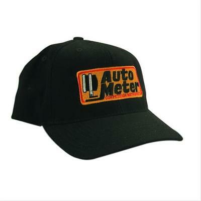 Autometer Ball Cap Autometer Competition Instruments Logo Black Adjustable Velcr