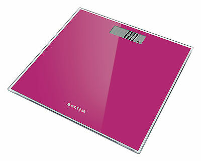 Salter Digital Bathroom Scale Toughened Glass Electronic Weight Scale Pink 9037