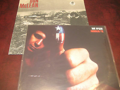 Don Mclean American Pie Capitol Records Issue + S/t United Artists 72 Issue Set