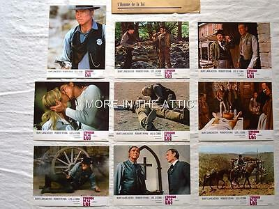 Burt Lancaster Is The Lawman Original Set Of 18 Western Lobby Cards