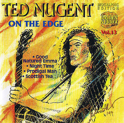 """Ted Nugent """" on the Edge """" CD 14 TRACKS NEW & Original Packaging Cosmus DSB"""