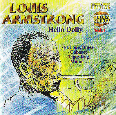 """Louis Armstrong """" Hello Dolly """" Jazz! 20 Tracks New & Original Packaging Cosmus"""