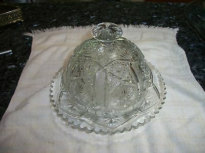 Antique EAPG Dome Butter Dish - No Reserve