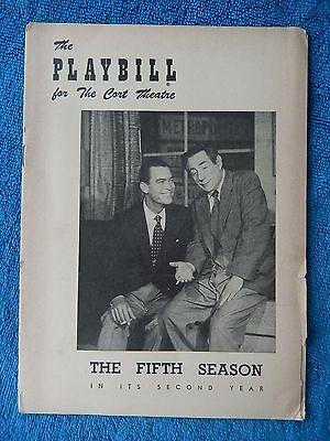 The Fifth Season - Cort Theatre Playbill - October 18th, 1954 - Chester Morris