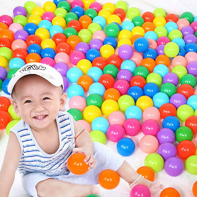 55mm 70mm Soft Plastic Colorful Ocean Ball Safty Secure Baby Kid Pit Toys Swim