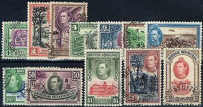 British Honduras 1938 set of 12 SG150-161 Fine Used