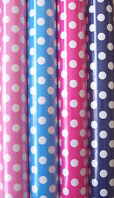 4 x Rolls Of Birthday Gift Wrapping Paper 3M x 70cm Polka Dot Spotty 17964-GW