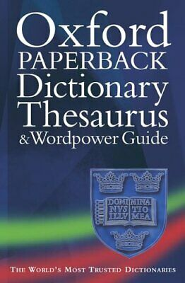 Oxford Paperback Dictionary, Thesaurus, and Wordpower Guide Paperback Book The
