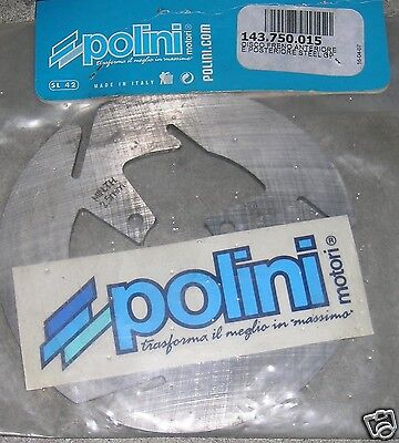 S7 143750015 Polini DISCO FRENO ANTERIORE E POSTERIORE STEEL GP Diametro 130 mm
