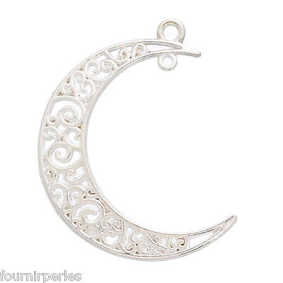150 Pendentif Breloques Charms Lune Animaux 25mm x 18mm B24609
