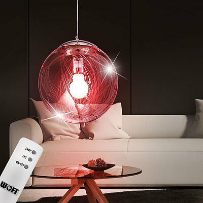 wofi designer rgb led chrom decken lampe verstellbar rund leuchte fernbedienung eur 54 90. Black Bedroom Furniture Sets. Home Design Ideas
