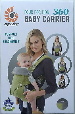 Ergobaby Four Position 360 Baby Carrier Ergo Green BRAND NEW AUTHENTIC